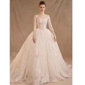 Luxury Wedding Dresses UK size 06 08 10 12 14 16 18 20 22 Custom Made