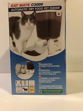 New Cat Mate C3000 Automatic Dry Food Pet Feeder Battery Operated Small Dogs Too