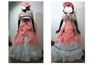 Brand new Kuroshitsuji Black Butler Ciel Phantomhive Cosplay Costume Set Pink