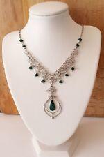 Malachite and Alpaca Silver Malachite Necklace - Boho Jewellery