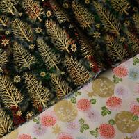 Weihnachtsbaum Bronzieren Baumwollstoff Patchwork DIY Kissen Kleidung Party Deko