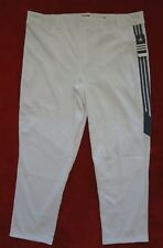 Adidas Diamond King Baseball Pants Softball Mens Size 3XL White Long Hemmed
