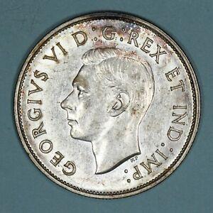 1939 Canada 50 Cents half dollar silver coin, AU, kM# 36