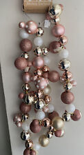 Disney Primark Christmas Mickey Mouse Bauble Garland  Decoration Pink Rose Gold