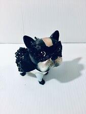 New Robert Stanley Boston Terrier Glass Christmas Ornament Dressed like Bat Dog