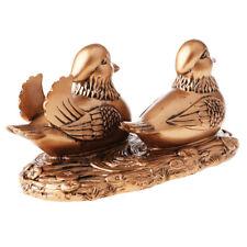 Chinese Resin Feng Shui Folk Mandarin Duck Statue Sculpture Pair Home Crafts