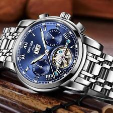 Luxury Stainless Steel KINYUED Mens Automatic Mechanical Watch Week Calendar