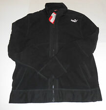 Nwt Mens Puma Black Full Zip Fleece Jacket Large