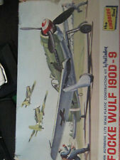Vintage 1965 Lindberg Focke Wulf 190D-9-Sold As Is-Free Shipping