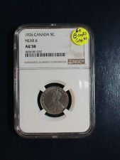 1926 Canada Nickel NGC AU58 NEAR 6 BETTER DATE 5C Coin PRICED TO SELL QUICKLY!