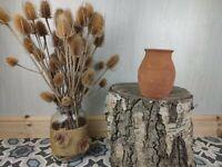 Vintage Handmade Terracotta Pottery Vase Jar jug Storage Planter plant pot.