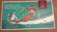5 Euro SILBER 2013 Ski-WM Schladming. handgehoben im Blister