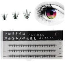 60 x Individual False Fake Flare Cluster Lashes Premium Eyelashes Extensions New