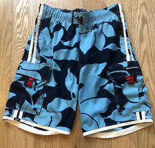 Abercrombie & Fitch Mens Swim Trunks Board Shorts Floral navy Blue sz S Small