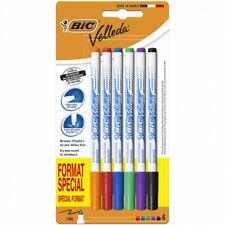 """Bic """"Velleda"""" Feutres effaçable à sec pointe fine x6 couleurs différentes"""