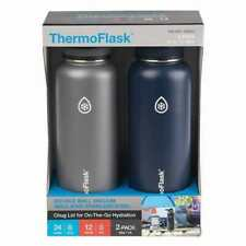 2 Takeya Stainless Steel ThermoFlask Water Bottle 40 oz. Blue Gray