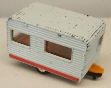 "Tomica #65 ""France-Bed Camping Car Caravel"" Travel Trailer White 1:77 Scale"
