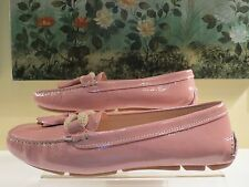 NWB WOMENS AUTHENTIC PRADA PINK PATENT LEATHER LOAFER MOCCASIN FLAT SHOES 40