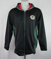 Green Bay Packers Men's Black Team Apparel Large Full Zip Hooded Sweatshirt NFL