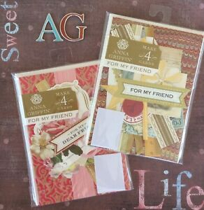 Anna Griffin Card Making Kits For My Friend 8 Greeting Cards Roses + Vintage