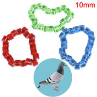 20Pcs 2019 pigeon training supplies aluminium rings for pigeons identify 10mm sg