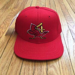 Vtg NOS New Era Hat Louisville Redbirds Cap SnapBack Med / Large 90s Cardinals