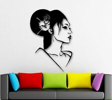 Wall Stickers Vinyl Decal Geisha Oriental Japan Sexy Girl Beautiful Woman ig1605