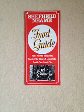 Shepherd Neame Good Food Guide 1980's
