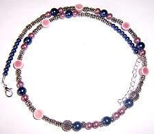 +Kette,Porzellan,Perlen,UNIKAT Perlenkette / Halskette