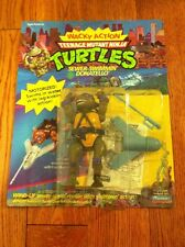 1989 TMNT TEENAGE MUTANT NINJA TURTLES WACKY ACTION SEWER-SWIMMIN DONATELLO Mint