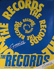THE RECORDS 1980 CRASHES PROMO POSTER