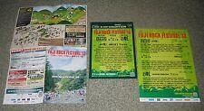 Japan Promo handbill flyer x 3 The Cure Nine Inch Nails Bjork poster Free Ship!