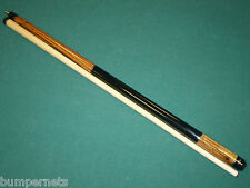 Players Exotic Zebrawood and Maple Two Piece Pool Cue Billiards Stick E-3300