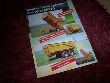 Prospectus / Leaflet CAMPA CP 110  & CP 130 Bennes monoblocs 2001 //