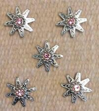 """5-1.25"""" Spur Concho PINK Bling for Headstall Saddle spurs Chaps Saddle Pad Craft"""