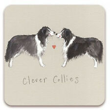 Clever Collies Corked Backed Coaster Alex Clark Border Collie Dogs Gifts C08