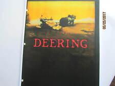 Deering Equipment Machines Catalog. International Harvester