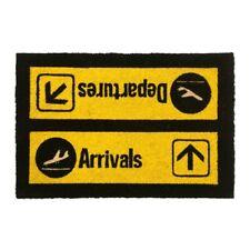 Arrivals & Departures Large Coir Front Door Mat Outdoor Indoor Mats Novelty Matt