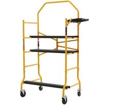 MetalTech 5 ft Job Site Scaffold 900 lb Capacity Scaffolding Rolling Drywall New
