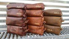 Handmade Leather Shaving Bag, Dopp Kit, Grooming, Toiletry Bag, Travel Case