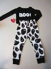 Baby GAP Long Sleeve Top and Pants Halloween Boo and Ghost Pajamas 18-24 month