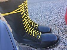 Vintage Dr Martens black leather boots UK 10 EU 45 Made in England