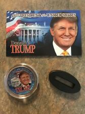 2016 DONALD TRUMP COLORIZED KENNEDY HALF DOLLAR COIN UNCIRCULATED w/ COA!!!