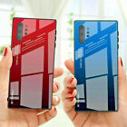 For Samsung Galaxy Note 20 Ultra S20 Plus S10 S9 S8 Gradient Glass Case Cover