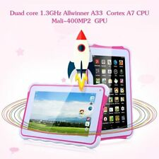 "Excelvan 711 7"" 1024*600 Android 4.4 Allwinner A33 Duad Core 5 Tablet PC Red DHL"