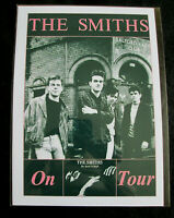 THE SMITHS : ON TOUR THE QUEEN IS DEAD   : A4 GLOSSY REPO POSTER