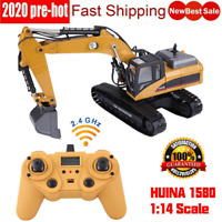 HUINA 1580 RC Toy Truck Excavator 2.4G Remote Control Tractor Vehicle Digger Car