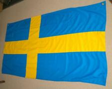More details for the flag of sweden/sveriges approx 175x89cm by aa flags eyelets for wall hanging