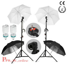 425Wx2 Photo Studio Soft Reflective Umbrella Bulb Continuous LightLamp Stand Kit