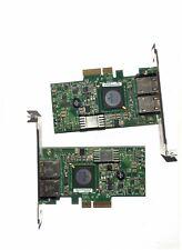 lot 2 x Broadcom NetXtreme II Carte Réseau DUAL GbE PCIe x4  0g218c